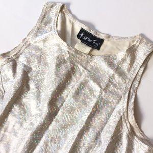 90s All That Jazz Metallic Sparkle Dress